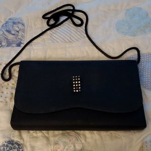 La Regale Black Clutch Bag
